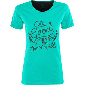 Triple2 Laag Handwrite T-Shirt Women Lapis